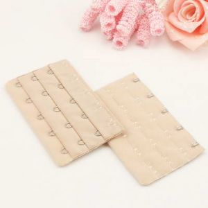 Bra back extender, Cloth and metal alloy, Light brown, 9.5cm x 5cm, 1  pieces, (UCK0020)